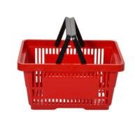 Bevásárló kosár, 22 literes, piros, KÉTFÜLES