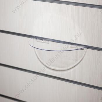 Cipőtartó panelba, PLEXI FÉLKÖRÍV, 240x120 mm