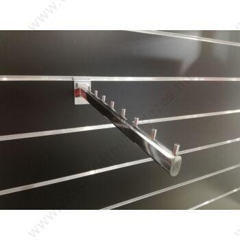 Ferde vállfatartó slatwall panelba, 8 fh-es