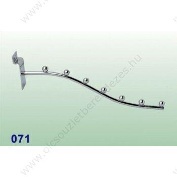 Hullámos vállfatartó panelba, 7 fh (300 mm)