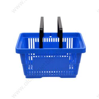 Bevásárló kosár, 22 literes, kék, KÉTFÜLES