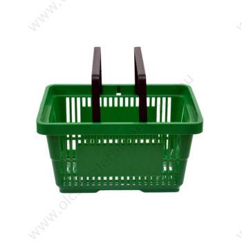 Bevásárló kosár, 22 literes, zöld, KÉTFÜLES