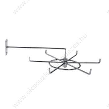 Forgó bizsu és nyakkendőtartó falra szerelhető, 6 fh