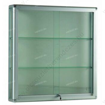 Alumínium keretes FALI vitrin, 1000x250x1000 mm  -Többféle színben és kivitelben